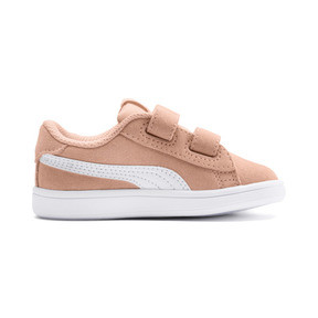 Thumbnail 5 of PUMA Smash v2 Suede Toddler Shoes, Peach Parfait-Puma White, medium
