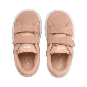 Thumbnail 6 of PUMA Smash v2 Suede Toddler Shoes, Peach Parfait-Puma White, medium