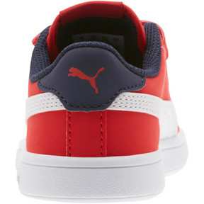 Thumbnail 4 of PUMA Smash v2 Buck AC Little Kids' Shoes, High Risk Red-White-Peacoat, medium