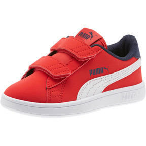 Thumbnail 1 of PUMA Smash v2 Buck AC Little Kids' Shoes, High Risk Red-White-Peacoat, medium