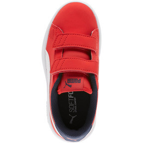 Thumbnail 5 of PUMA Smash v2 Buck AC Little Kids' Shoes, High Risk Red-White-Peacoat, medium