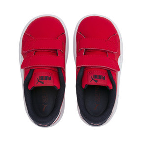 Thumbnail 6 of PUMA Smash v2 Buck AC Little Kids' Shoes, High Risk Red-White-Peacoat, medium
