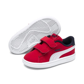 Thumbnail 2 of PUMA Smash v2 Buck Toddler Shoes, High Risk Red-Puma White, medium