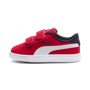 Thumbnail 1 of PUMA Smash v2 Buck Toddler Shoes, High Risk Red-Puma White, medium