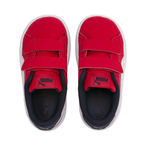 PUMA Smash v2 Buck Toddler Shoes, High Risk Red-Puma White, large