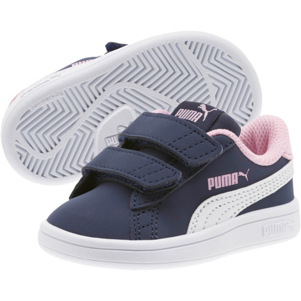 PUMA Smash v2 Buck Sneakers INF, Peacoat-Puma White-Pale Pink, large