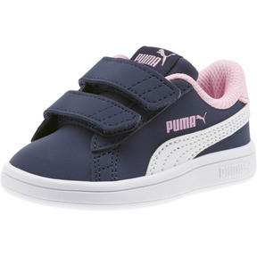 Thumbnail 1 of PUMA Smash v2 Buck Sneakers INF, Peacoat-Puma White-Pale Pink, medium