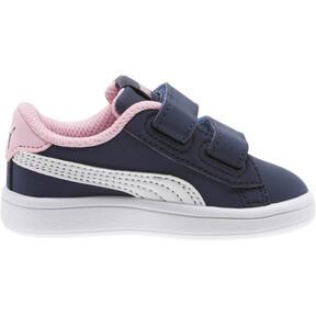 Thumbnail 3 of PUMA Smash v2 Buck Sneakers INF, Peacoat-Puma White-Pale Pink, medium