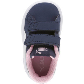 Thumbnail 5 of PUMA Smash v2 Buck Sneakers INF, Peacoat-Puma White-Pale Pink, medium