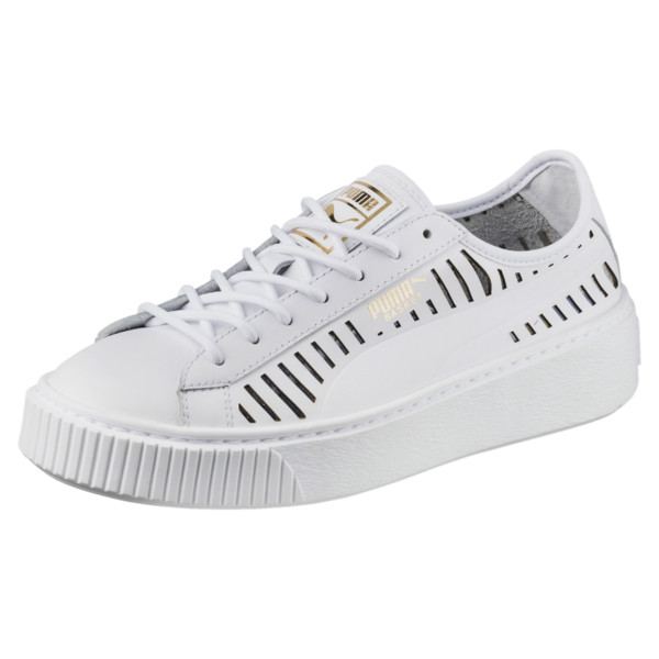 19990e1c Damskie buty sportowe basket Platform Summer, Puma White-Puma White,  obszerny