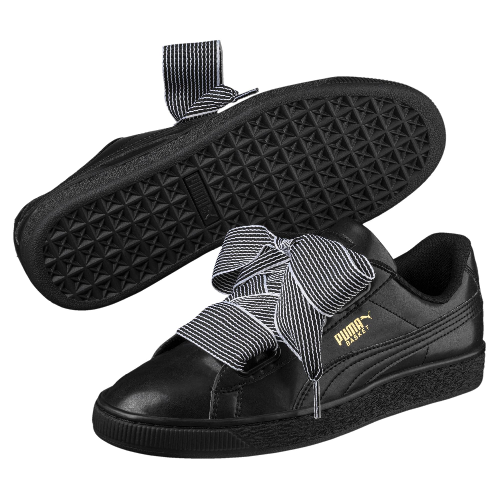 Image Puma Women's Basket Heart Sneakers #2