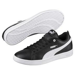 Thumbnail 2 of Smash v2 Leather Women's Sneakers, Puma Black-Puma White, medium