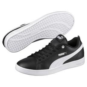Thumbnail 1 of Smash v2 Leather Women's Sneakers, Puma Black-Puma White, medium