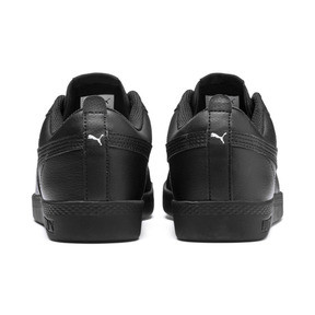 Thumbnail 3 of Smash v2 Leather Women's Sneakers, Puma Black-Puma Black, medium