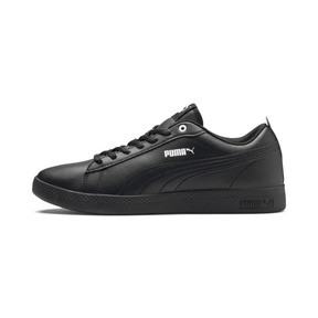 Thumbnail 1 of Smash v2 Leather Women's Sneakers, Puma Black-Puma Black, medium