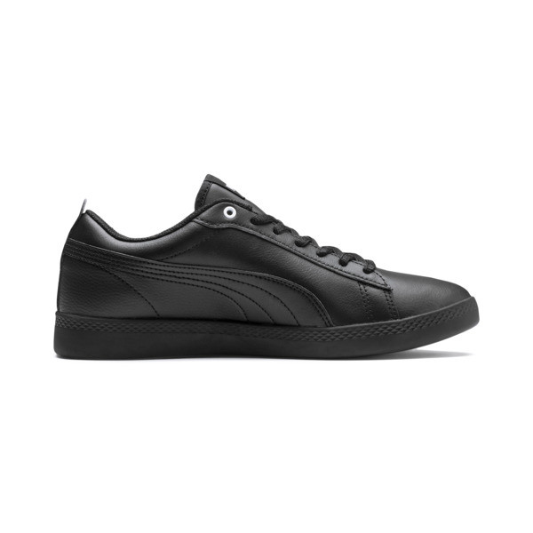 Smash v2 Leather Women's Sneakers, Puma Black-Puma Black, large