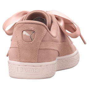 Thumbnail 4 of Suede Heart Pebble Women's Trainers, Peach Beige-Pearl, medium