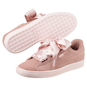 Thumbnail 2 of Suede Heart Pebble Women's Trainers, Peach Beige-Pearl, medium