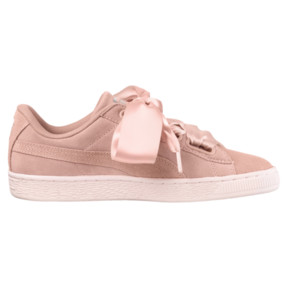 Thumbnail 3 of Suede Heart Pebble Women's Trainers, Peach Beige-Pearl, medium