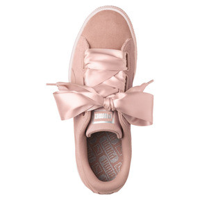 Thumbnail 5 of Suede Heart Pebble Women's Trainers, Peach Beige-Pearl, medium