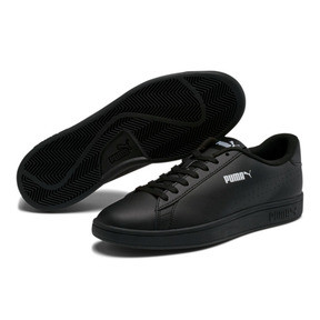 Thumbnail 2 of PUMA Smash v2 Leather Perf Sneakers, Puma Black-Puma Black, medium