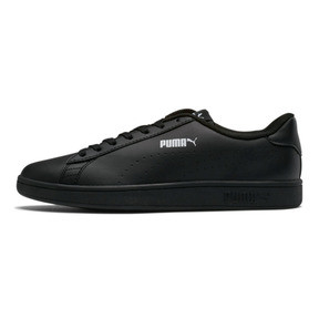 Thumbnail 1 of PUMA Smash v2 Leather Perf Sneakers, Puma Black-Puma Black, medium