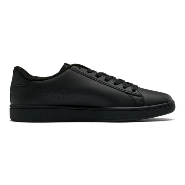 PUMA Smash v2 Leather Perf Sneakers, Puma Black-Puma Black, large