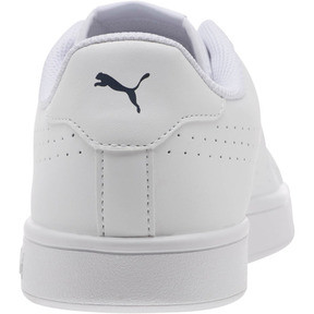 Thumbnail 3 of PUMA Smash v2 Leather Perf Sneakers, Puma White-Puma White, medium