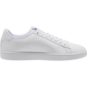 Thumbnail 4 of PUMA Smash v2 Leather Perf Sneakers, Puma White-Puma White, medium