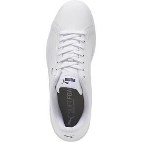 Thumbnail 5 of PUMA Smash v2 Leather Perf Sneakers, Puma White-Puma White, medium