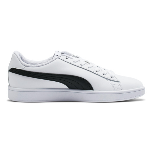 Smash v2 Leather Sneakers, Puma White-Puma Black, large