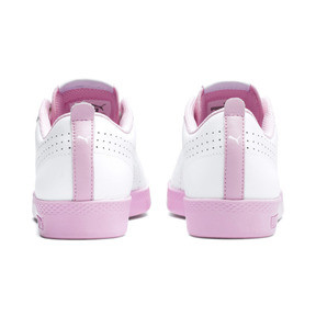 Thumbnail 4 of Smash v2 Perf Women's Sneakers, Puma White-Pale Pink, medium