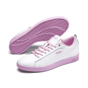 Thumbnail 2 of Smash v2 Perf Women's Sneakers, Puma White-Pale Pink, medium