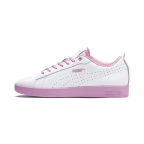 Thumbnail 1 of Smash v2 Perf Women's Sneakers, Puma White-Pale Pink, medium