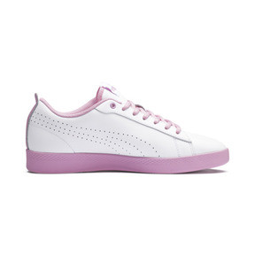 Thumbnail 5 of Smash v2 Perf Women's Sneakers, Puma White-Pale Pink, medium