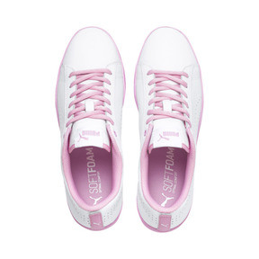 Thumbnail 6 of Smash v2 Perf Women's Sneakers, Puma White-Pale Pink, medium