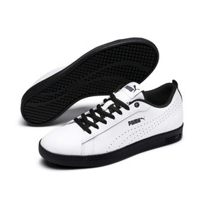 Thumbnail 2 of Smash v2 Perf Women's Sneakers, Puma White-Puma Black, medium
