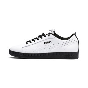 Thumbnail 1 of Smash v2 Perf Women's Sneakers, Puma White-Puma Black, medium