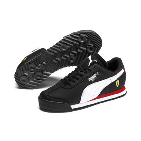 Thumbnail 2 of Scuderia Ferrari Roma Sneakers JR, Black-White-Rosso Corsa, medium