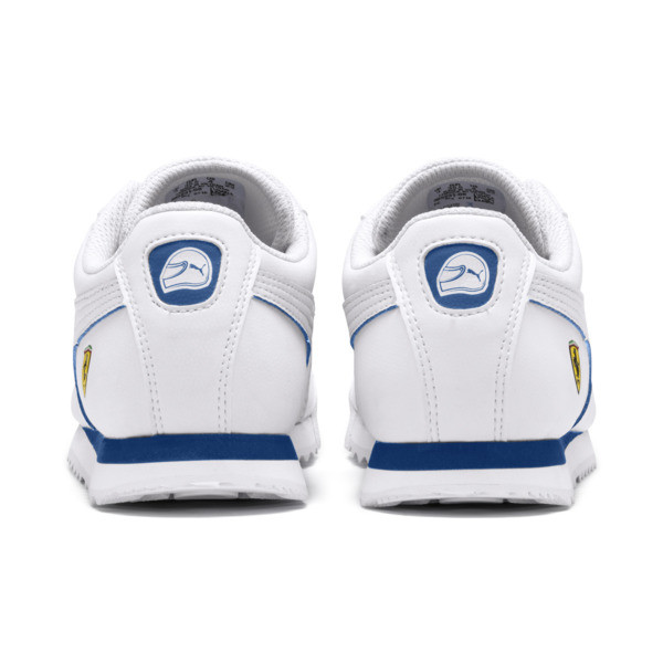 Zapatos deportivos Scuderia Ferrari Roma para JR, White-White-Galaxy Blue, grande