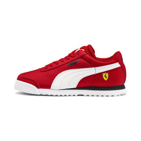 Thumbnail 1 of Scuderia Ferrari Roma Sneakers JR, Rosso Corsa-White-Black, medium