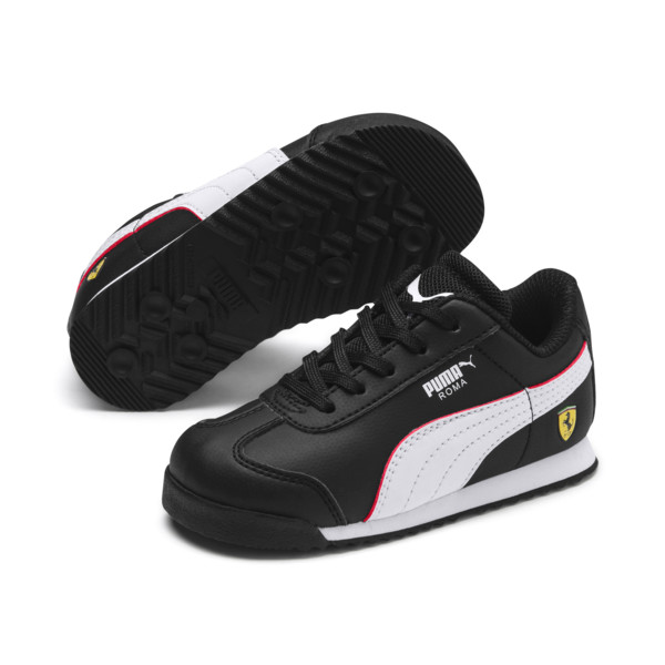 Scuderia Ferrari Roma Toddler Shoes, Black-White-Rosso Corsa, large