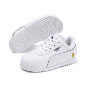 Thumbnail 2 of Scuderia Ferrari Roma Toddler Shoes, White-White-Galaxy Blue, medium