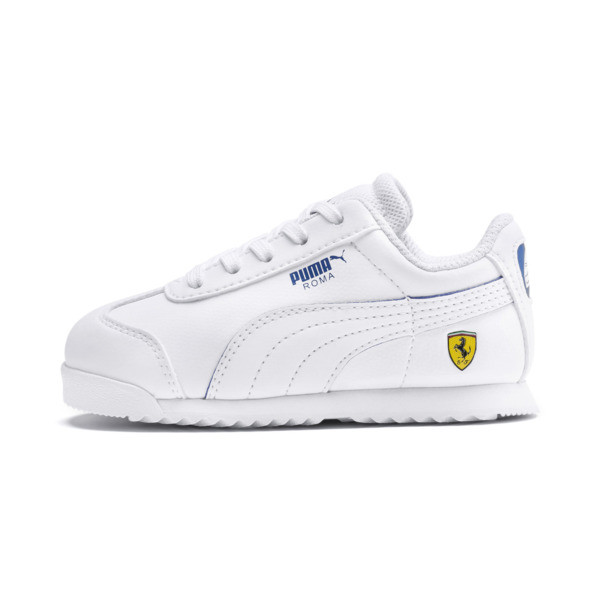 Scuderia Ferrari Roma Toddler Shoes, White-White-Galaxy Blue, large