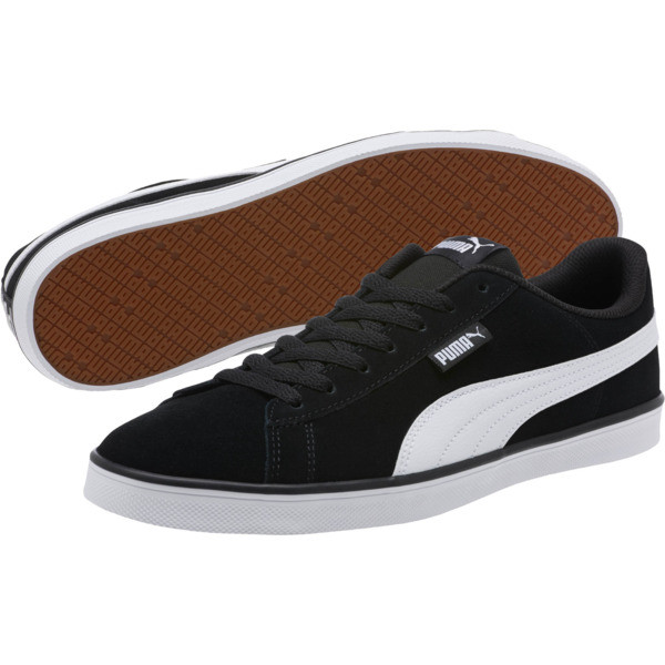 Urban Plus Suede Sneakers, Puma Black-Puma White, large