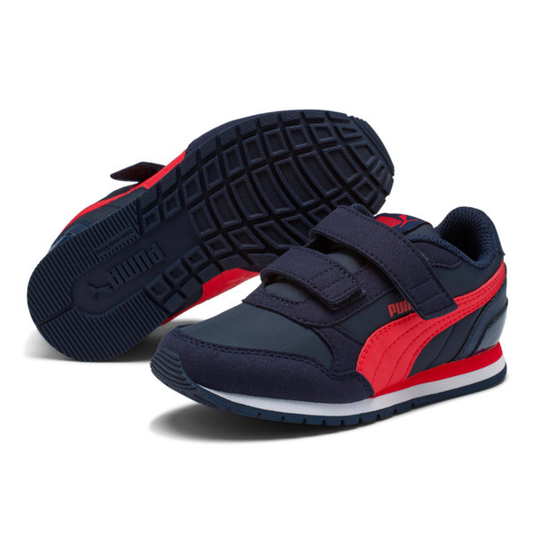 ST Runner v2 Little Kids' Shoes, Peacoat-Ribbon Red, large