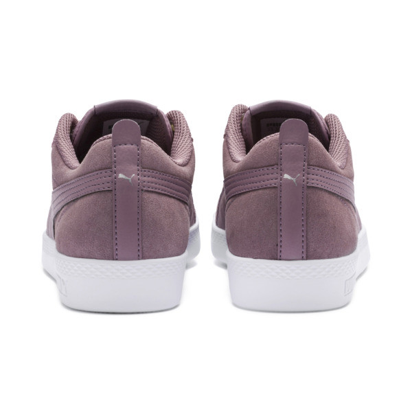Smash v2 Suede Women's Sneakers, Elderberry-Silver-Puma White, large