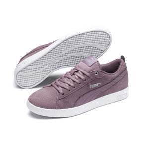 Thumbnail 2 of Smash v2 Suede Women's Sneakers, Elderberry-Silver-Puma White, medium