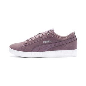 Thumbnail 1 of Smash v2 Suede Women's Sneakers, Elderberry-Silver-Puma White, medium