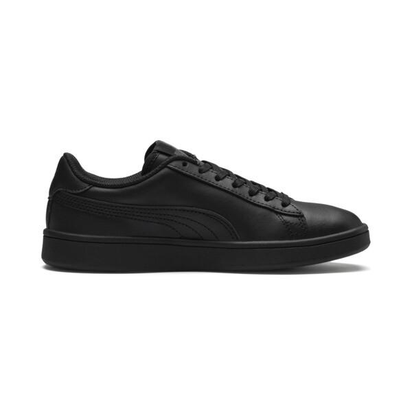 PUMA Smash v2 Leather Sneakers PS, Puma Black-Puma Black, large